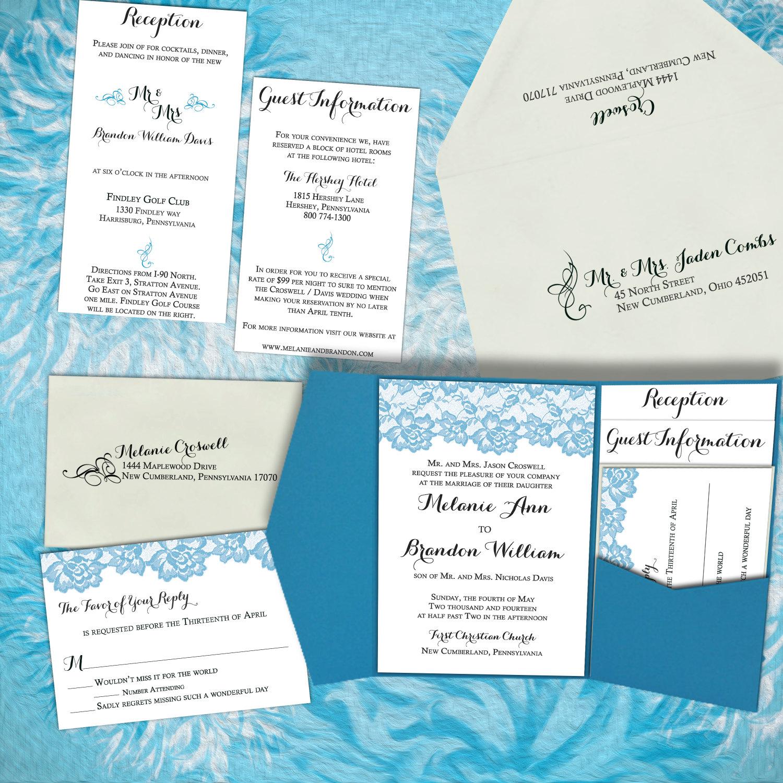 DIY Wedding Invitation- Vintage Lace – Modern Wedding Invitations ...