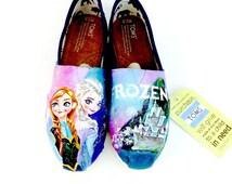 Custom Frozen Elsa & Anna Disney Toms