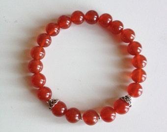 Healing Absent-Mindedness, Carnelian Bracelet Healing Jewelry Intention Bracelet Yoga Jewelry Mala Beads Healing Bracelet
