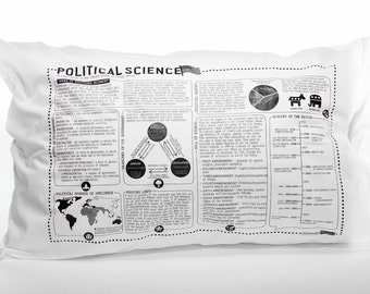 Political Science Printed Study Pillowcase