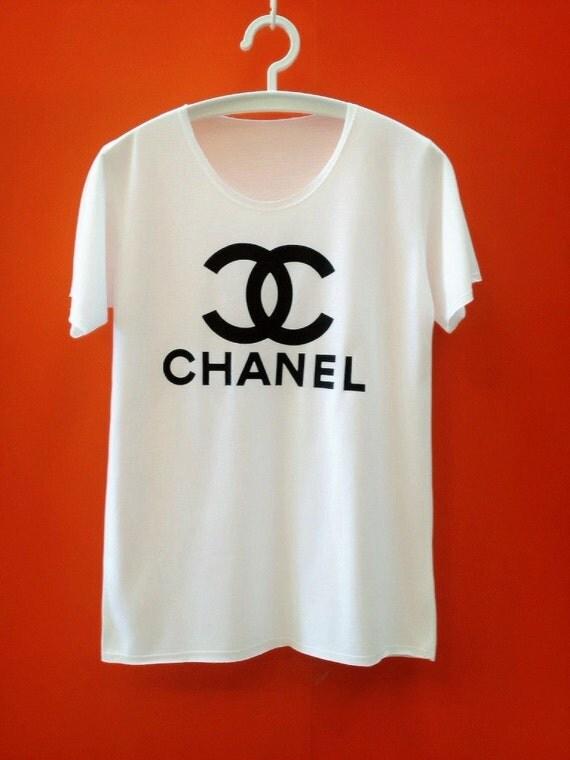 Fashion C N Designer White T Shirt T-Shirt TShirt Tee Shirt Woman Size S / M / L