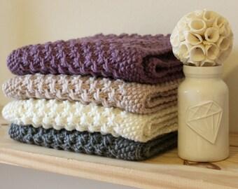 Cream/White Merino Wool, Hand Knitted in London, Star Cowl