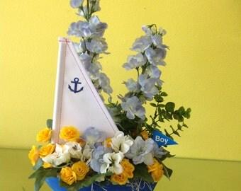 Sailboat Silk Arrangement