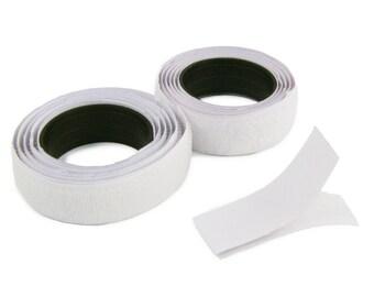 """40"""" Hook & Loop Velcro Self Adhesive Strip Fastener (White or Black)"""