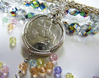 Holiday Sale 40% off/My Country Coin, Instant Download PDF Tutorial ,Free Gift Tutorial, Wire Wrapping, Pendant, Coin