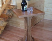 Ruby Hill Cocktail End Table Handcrafted Wood Wine Coffee Stand Outdoor In-Door All Weather Deck Patio Home Furniture