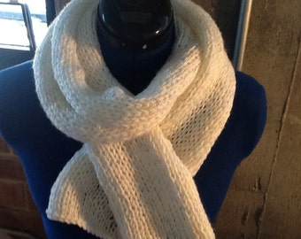Classic white scarf.  Very soft with little flecks of color.