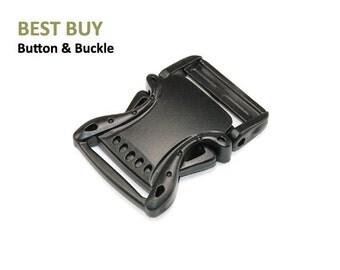"10 pcs Plastic Swinging Type Side Release Buckles 1 1/2"" #PJA8814"
