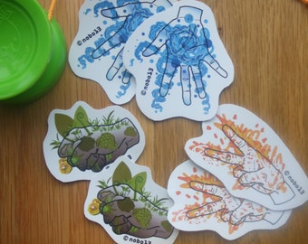 Cool Rock, Paper, Scissor Vinyl Stickers