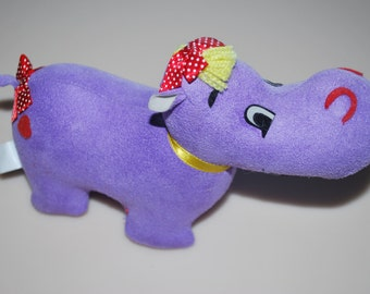 Dakin Dream Pets Purple Henrien Hippo Applause