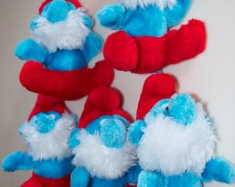 "The Smurfs Papa Smurf 1981 Peyo Schleich Wallace Berrie 7"" Stuffed Plush Doll"