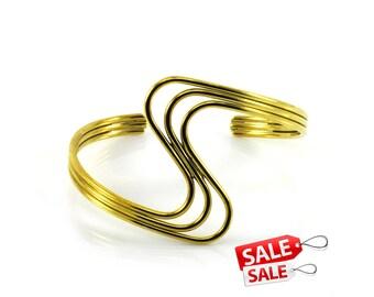 Gold Cuff Bracelet Gold Bracelet Cuff Gold Brass Cuff Bracelet Gold Brass Bracelet Cuff Gold Curve Bracelet Cuff Curve Cuff Bracelet 113