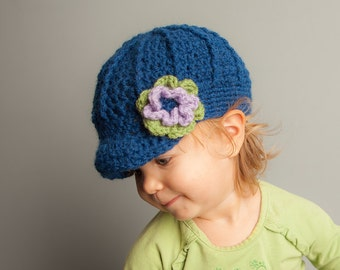 Girly Newsboy Hat for Baby, Toddler, and Child