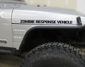 ZOMBIE RESPONSE VEHICLE Hood Decals for Jeep