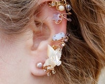 Ivory Mother of Pearl Dove Ear Wrap
