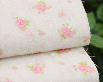 Laminated Linen Fabric Mini Rose Pink By The Yard