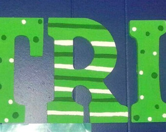 custom wooden letters for kids/babies