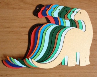 15 large Dinosaur Brontosaurus die cuts for Childrens cards toppers cardmakng scrapbooking pages craft projects