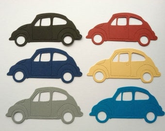 15 Beetle Car Die cuts for mens/boys/male cards toppers cardmaking