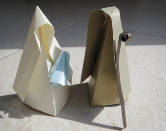 Handmade Nativity scene only in origami, perfect for christmas present for family and friends