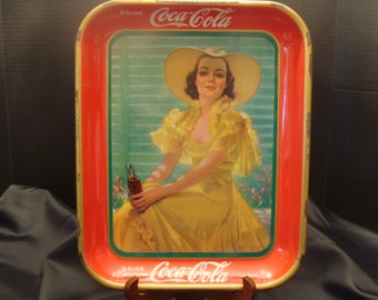 1938 dated & signed Coca-Cola Tray