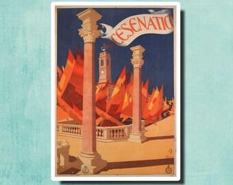 CESENATICO Italy - Vintage Travel Poster by Giovanni Guerrini 1927 - SG2387