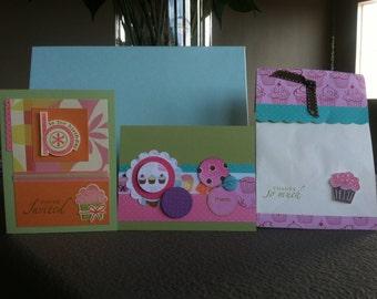 Cupcake Birthday Invitation Set