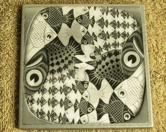 Acrylic Coated Decorative Ceramic Coaster or Trivet