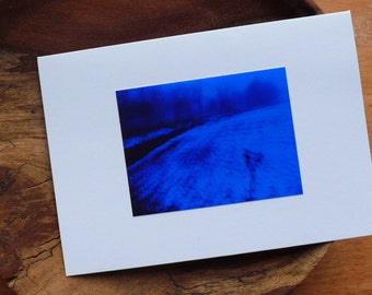 Photographic Greetings Card - Blue Snow