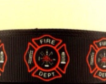 On Sale 5 Yards 1 Inch Fire Department Grosgarin Ribbon