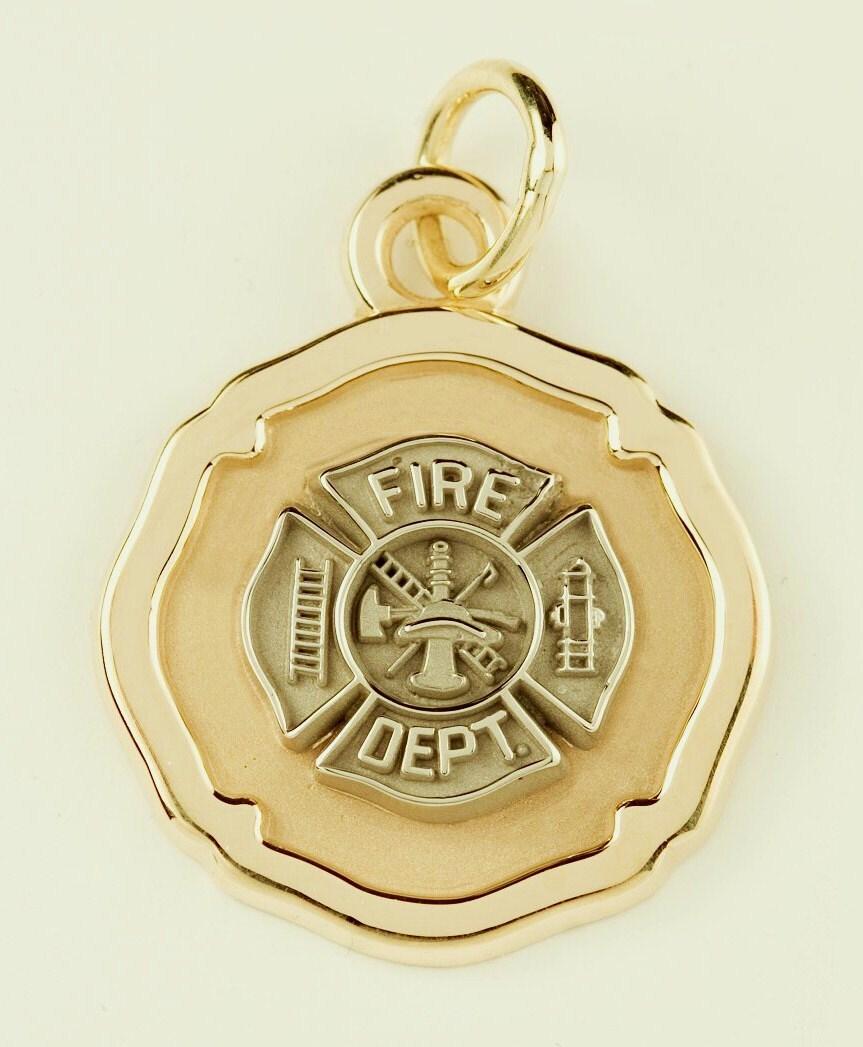 Firefighter Jewelry Maltese Cross 14k Solid Gold