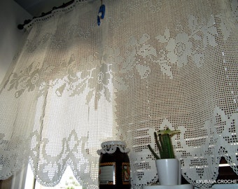Popular items for Charming curtains on Etsy - Small Country Chic Kitchen Curtains