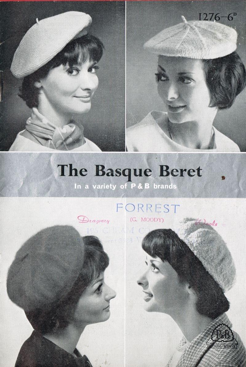 Vintage Knitting Pattern Beret : ladies beret hat vintage knitting pattern PDF instant