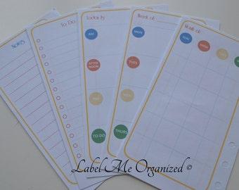 Perpetual Calendar Planner Kit - Personal Sized
