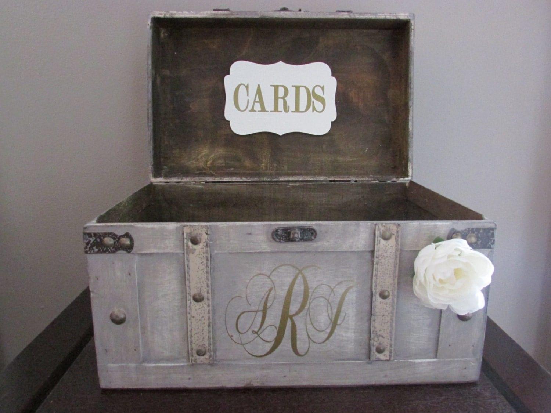 Vintage Wedding Gift Card Box : Vintage Wedding Card Box Rustic Wedding Card Box Large