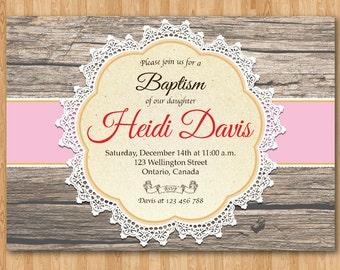 diy baptism invites