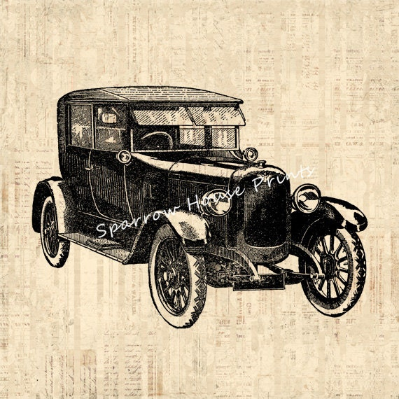 Vintage Auto Wall Decor : Car print vintage wall art automobile home decor antique