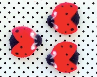 Ladybug Sugar Decorations (24), Ladybug Cupcake Toppers, Ladybug Cake Toppers, Ladybug Partyns