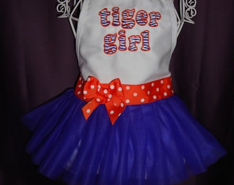 Clemson Tiger Girl Apron - Toddler and Child