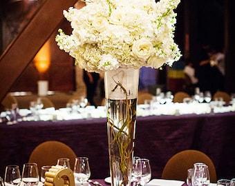 Clear Trumpet Glass Vase Wedding Centerpiece, PSEVEGV010Hxx