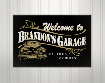 Personalized Garage Sign, ManCave Pub Sign, Beer Sign, Man Cave Bar Decor