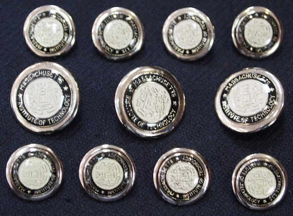 Silver Metal MIT Blazer Buttons Set for suit jacket blazer