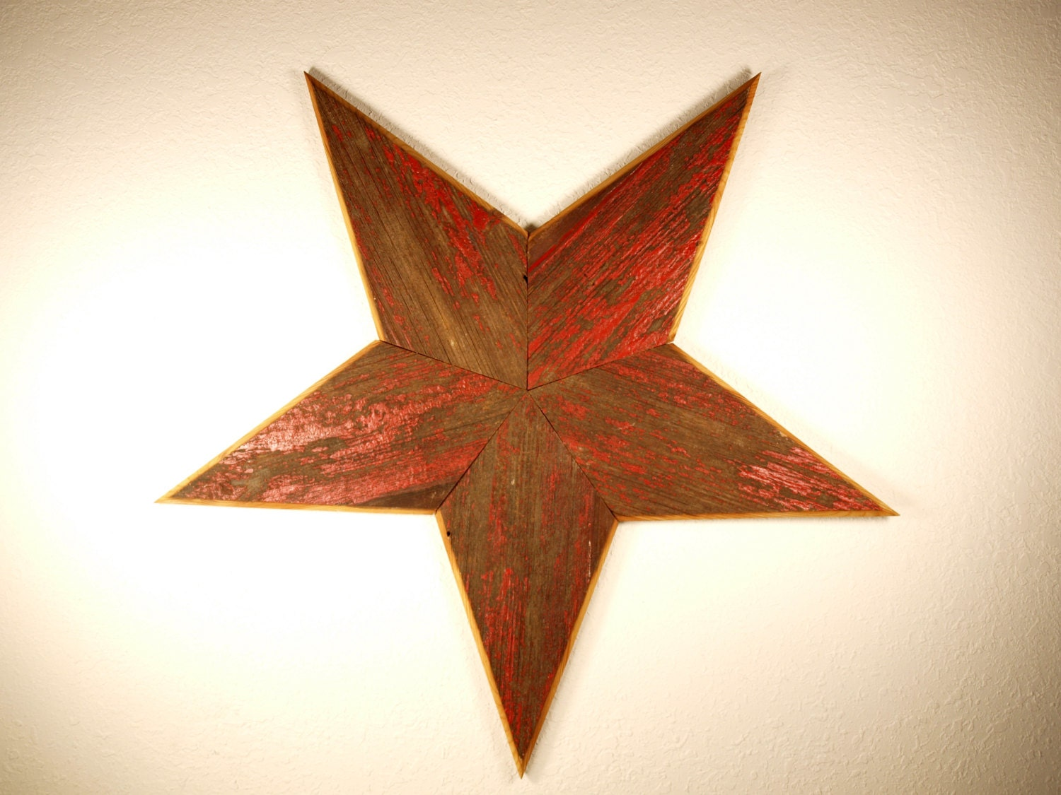 Star Wall Decor Ideas: Large Primitive Barn Wood Star Home Wall Indoor Outdoor Decor