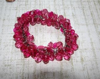 Hot Pink Cha Cha Bracelet