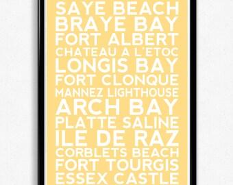 Alderney Typographic Print