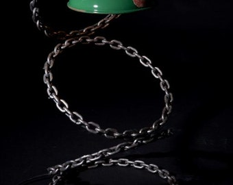 Table / Desk lamp made from welded chain
