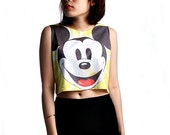 Mickey mouse Crop Top Tank Shirt Cropped Tops S M L