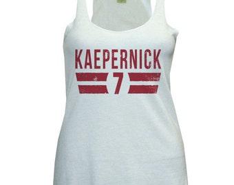 Colin Kaepernick NFLPA Officially Licensed San Francisco Womens Tank Top S-XL Kaepernick Font R