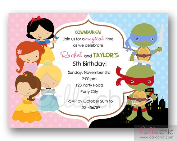 Joint Birthday Invites with perfect invitations example