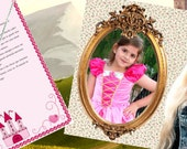 "Magic Pack ""The Sleeping Beauty"": personalized letters+ pictures+Disney charm princess necklace.  Birthday present for girl."